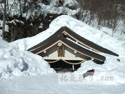 【長野】雪の戸隠神社 奥社・九頭龍社でお水取り(長野市)