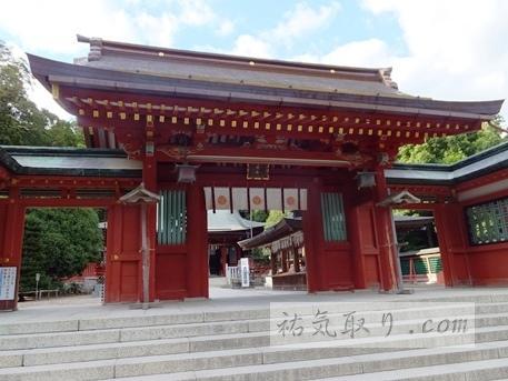 塩竃神社の桜門
